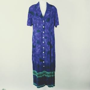 Dress Barn maxi shirt dress